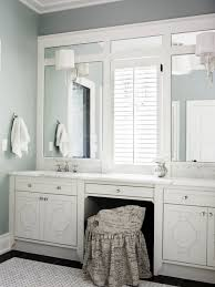 Hanging Bathroom Vanities by Bathroom Vanity Lights Mounted On Trimmed Out Plate Mirror
