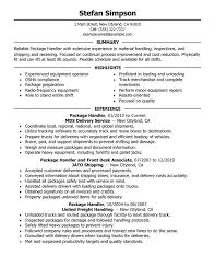Sample Of Warehouse Worker Resume by Unforgettable Package Handler Resume Examples To Stand Out