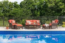 Resin Wicker Patio Furniture Sets - sawyer 6pc resin wicker patio furniture conversation set orange