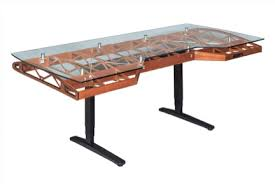 artisan creates high end furniture with an aviation inspiration