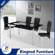 Fiber Dining Table Set  Seater Glass Dining Table Design Modern - Black dining table for 4