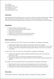 Inventory Specialist Resume Sample by Professional Assistant Spa Manager Templates To Showcase Your