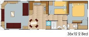 Caravan Floor Plan Layouts Mulberry Caravan 36x12 2 Bed Layout Europa Caravans Hull