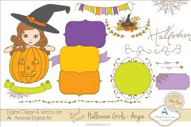 halloween characters clipart halloween clipart u0026 vector set amistyle digital art