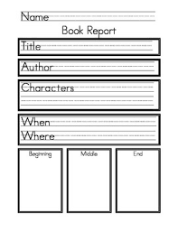 how to write a book report for college