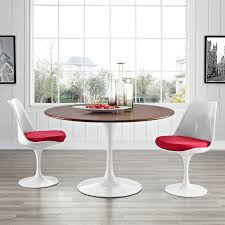 Flower Dining Table Walnut Round Top Mid Century Dining Tables - Century dining room tables
