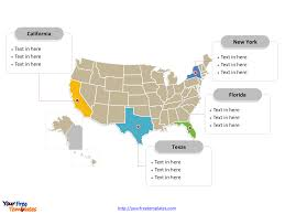 Political Map Of United States And Canada by Free Usa Powerpoint Map Free Powerpoint Templates