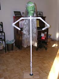 Monster Halloween List by Measurements For Pvc Dummy Frame For Monsters Holiday Decorating