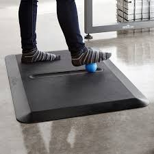 Standing Desk Mats by Activemat Groove Anti Fatigue Mat With Ball Keeps You Active