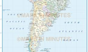 Political Map Of Latin America by Digital Vector South America Countries Political Map With Country