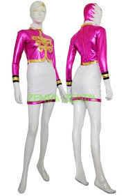 power rangers mega force pink and white cosplay costume