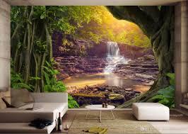 custom wall papers home decor 3d tv backdrop sofa trees falls