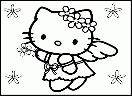 remarkable hello kitty mermaid coloring pages to print with hello