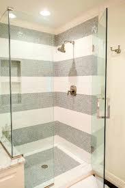 bathroom ravishing porcelain white subway tile shower bryan