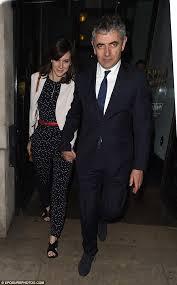Rowan Atkinson     s girlfriend Louise Ford keeps it casual in skinny
