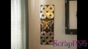 Youtube Home Decor by Cd Wall Decoration Diy How To Tutorial Youtube