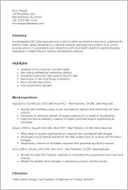 Resume Templates  Gnc Sales Associate My Perfect Resume