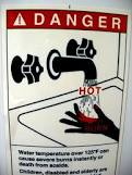 less hot water in the