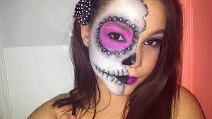 dead makeup halloween halloween makeup tutorial half face sugar skull dia de los