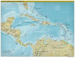 Central America Map Quiz by Political Map Of Central America And The Caribbean Nations Maps