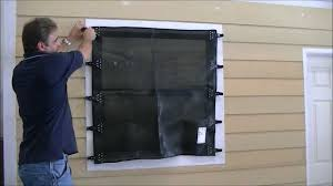 Window Screen Clips Plastic Hurricane Fabric Installation Video Youtube