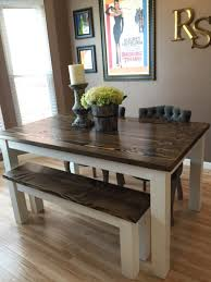 Chairs For Kitchen Table by Solid Wood Farmhouse Kitchen Table With Matching Wooden Bench
