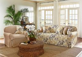 Floral Couches Bedroom Royal Living Room Ideas Showcasing Rustic Massive Sofa
