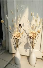 creative decorations small white handmade art ceramic vase