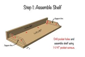 Free Woodworking Plans Wall Shelf by Diy Secret Floating Shelf Free Plans Rogue Engineer