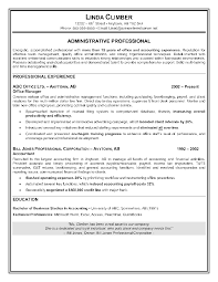 Example Objectives For Resumes by Professional Administrative Assistant Sample Administrative
