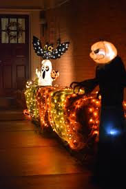 halloween pathway lights spooky front door decor for halloween