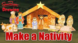 make your own christmas nativity scene youtube