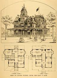 1879 print victorian house architectural design floor plans horace