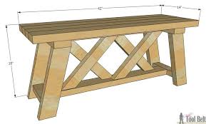 Plans To Build A Picnic Table Bench by How To Build An Outdoor Bench With Free Plans