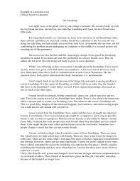 essay about friendship muet