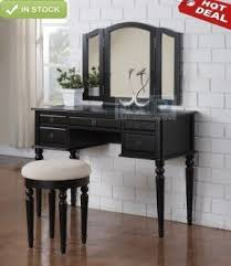 Linon Home Decor Vanity Set With Butterfly Bench Black Black Bedroom Vanity Set Foter