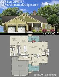 2000 Sq Ft Bungalow Floor Plans Plan 25402tf Modern Prairie Pleaser Bungalow Square Feet And
