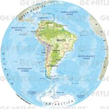 Map Of The South America by Geoatlas World Maps And Globes South America Map City