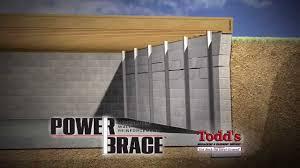 todds mudjacking powerbrace for cracked u0026 bowed basement walls