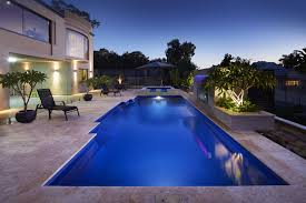 Swimming Pools Backyard by Fibreglass Swimming Pools Australian Outdoor Living