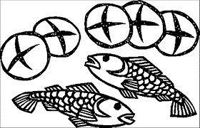 5 loaves 2 fish coloring page coloring home