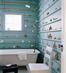 royal blue bathroom decor floating white washbasin under the