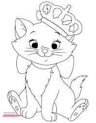 her eye coloring pages the aristocats winking her eye coloring pages