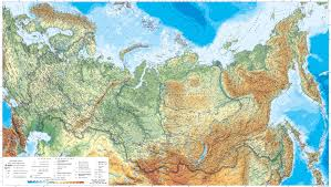 Map Of Russia And Europe by Large Detailed Physical Map Of Russia With Roads And Cities In