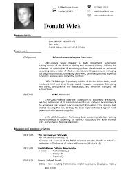 Executive Summary Resume Example Template Resume Sample Cv Template Word Rn Resume Format Managers Resume