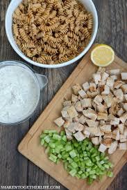 Pasta Salad Ingredients The Best Creamy Chicken Pasta Salad