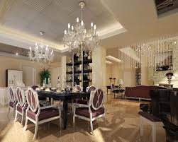 dining rooms brown chair crystal chandelier black dining table
