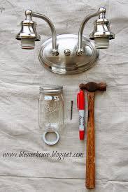 diy mason jar vanity light bless u0027er house