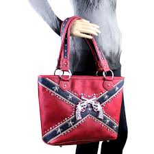 Rebel Flag Home Decor by Cfd01g 8014 Montana West Confederate Flag Collection Tote Bag