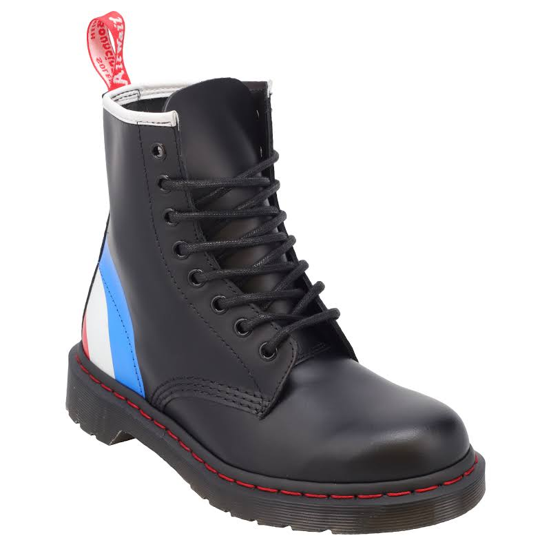 Dr. Martens 8 Eye Black Leather Casual Dress Lace Up Boots Shoes